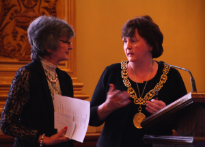 Lord Provost Sadie Doherty with SKCA Chair Anne Swartz